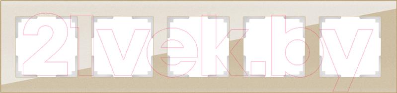 Купить Рамка для выключателя Werkel, Favorit WL01-Frame-05 / a040874 (шампань), Россия, стекло, Favorit (Werkel)