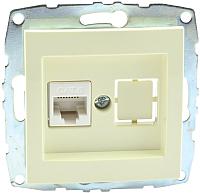Розетка Mono 500-001705-125 (кремовый) -