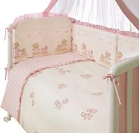 Комплект постельный в кроватку Perina Тиффани / Т3-01.3 (неженка розовый) -