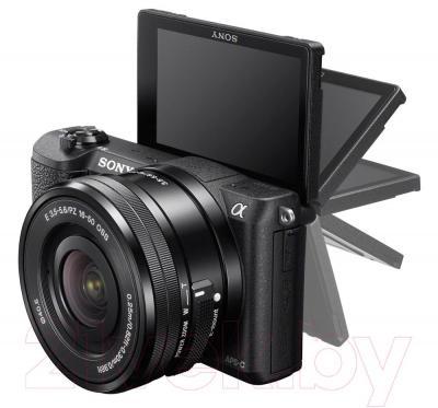 Беззеркальный фотоаппарат Sony ILC-E5100LB - поворотный экран