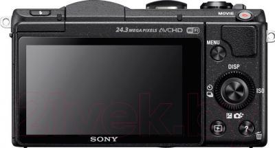 Беззеркальный фотоаппарат Sony ILC-E5100LB - вид сзади
