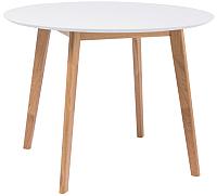 Обеденный стол Signal Mosso II 90x75 (белый/дуб) -