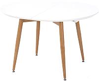 Обеденный стол Halmar Edward 120-200x100x75 (белый/дуб сан ремо) -