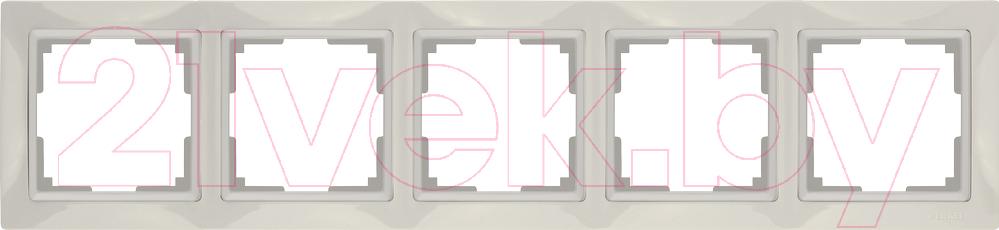 Купить Рамка для выключателя Werkel, Snabb Basic WL03-Frame-05 / a036634 (слоновая кость), Россия, поликарбонат, Snabb Basic (Werkel)
