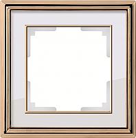 Рамка для выключателя Werkel Palacio WL17-Frame-01 / a037677 (золото-белый) -