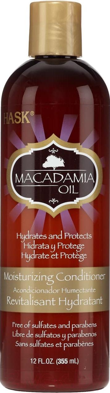 Купить Кондиционер для волос HASK, Увлажняющий с маслом макадамии (355мл), Сша