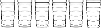Набор стаканов LAV Vitalis LV-VTL671F -