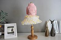 Платье для животных Nicovaer Принцесса / 02136 (XL, розовый) -