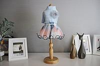 Платье для животных Nicovaer С цветком / 02124 (XL, голубой) -