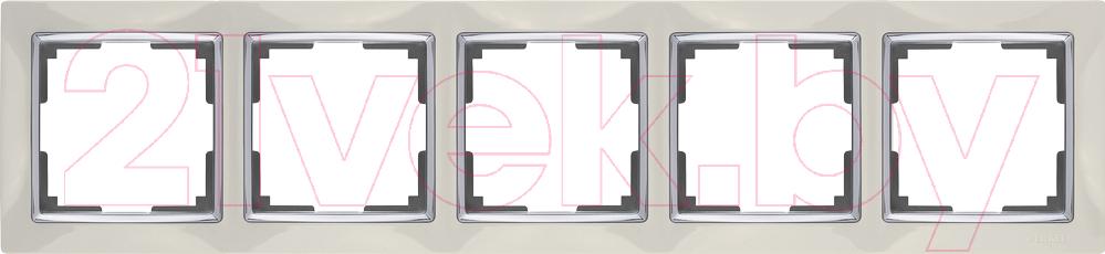 Рамка для выключателя Werkel, Snabb WL03-Frame-05 / a030803 (слоновая кость), Россия, пластик, Snabb (Werkel)  - купить со скидкой