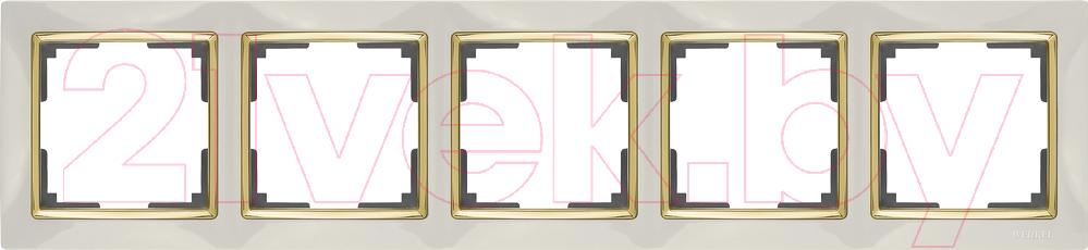 Купить Рамка для выключателя Werkel, Snabb WL03-Frame-05 / a035251 (слоновая кость/золото), Россия, пластик, Snabb (Werkel)