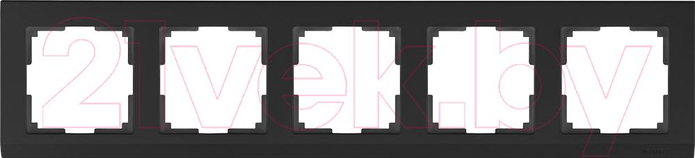 Купить Рамка для выключателя Werkel, Stark WL04-Frame-05 / a030809 (черный), Россия, поликарбонат, Stark (Werkel)
