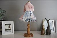 Платье для животных Nicovaer С цветком / 02128 (XL, розовый) -