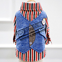 Рубашка для животных Nicovaer С жилеткой / 02151 (S, коричневый) -