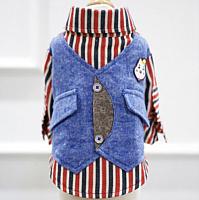 Рубашка для животных Nicovaer С жилеткой / 02155 (S, синий) -