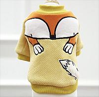 Толстовка для животных Nicovaer Лиса / 02144 (XL, желтый) -