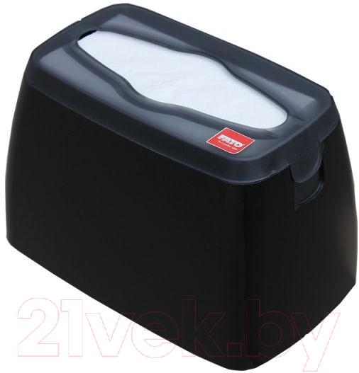 Купить Диспенсер для салфеток Merida, GJC002, Польша, черный, пластик