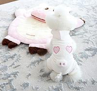 Комбинезон для животных Nicovaer Поросенок плюшевый / 02147 (L, белый) -