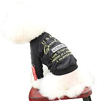 Куртка для животных Nicovaer Волонтер / 02085 (L, черный) -