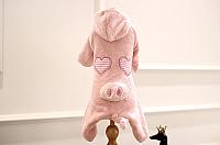 Комбинезон для животных Nicovaer Поросенок плюшевый / 02035 (XL, розовый) -
