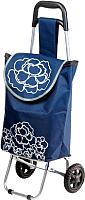 Сумка-тележка Perfecto Linea 42-661010 (синий, цветок) -