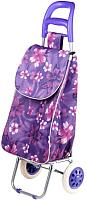 Сумка-тележка Perfecto Linea 42-307010 (фиолетовый, цветы) -