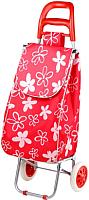 Сумка-тележка Perfecto Linea 42-307012 (красный, цветы) -
