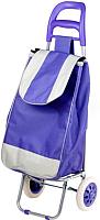 Сумка-тележка Perfecto Linea 42-307022 (фиолетовый, полоска) -