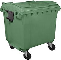 Контейнер для мусора Plastik Gogic 1100л с крышкой (зеленый) -