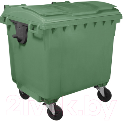 Контейнер для мусора Plastik Gogic 1100л с крышкой (зеленый)