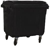 Контейнер для мусора Plastik Gogic 1100л с крышкой (темно-серый) -