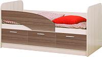 Кровать-тахта Олмеко Дельфин 06.222 160 (шимо светлый/шимо темный) -