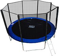 Батут Happy Jump PRO 10ft с внешней сеткой и лестницей (312см) -