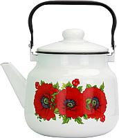 Чайник Эмаль Цветы 01-2713/4М -