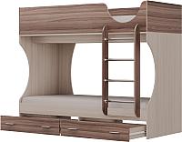 Двухъярусная кровать Олмеко Д 2 (шимо светлый/шимо темный) -
