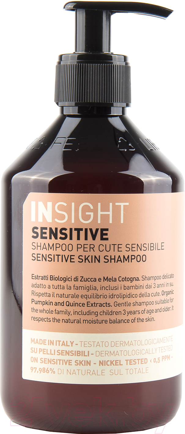 Купить Шампунь для волос Insight, Для чувствительной кожи головы (400мл), Италия