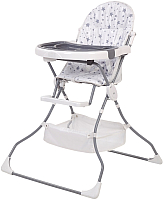 Стульчик для кормления Polini Kids 252 Звезды (белый/серый) -