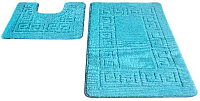 Набор ковриков Shahintex РР 50x80/50x50 (бирюзовый) -