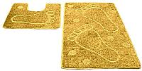Набор ковриков Shahintex РР 50x80/50x50 (желтый) -