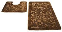 Набор ковриков Shahintex РР 50x80/50x50 (коричневый) -