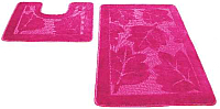 Набор ковриков Shahintex РР 50x80/50x50 (розовый) -