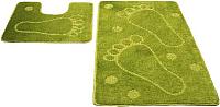 Набор ковриков Shahintex РР 50x80/50x50 (салатовый) -