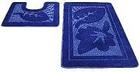 Набор ковриков Shahintex РР 50x80/50x50 (синий) -