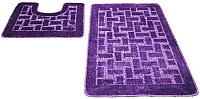 Набор ковриков Shahintex РР 50x80/50x50 (фиолетовый) -