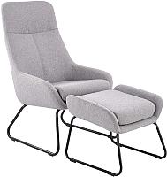 Комплект мягкой мебели Halmar Bolero с подставкой для ног (светло-серый) -