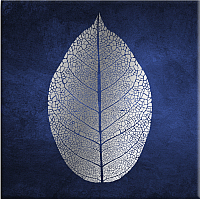 Картина Orlix Лист на голубом / CA-11909 (с эффектом нанесения серебра) -