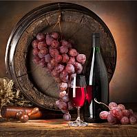 Картина на стекле Orlix Вино 3 / GL-00110 -
