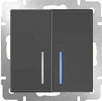 Выключатель Werkel WL07-SW-2G-2W-LED / a029876 -