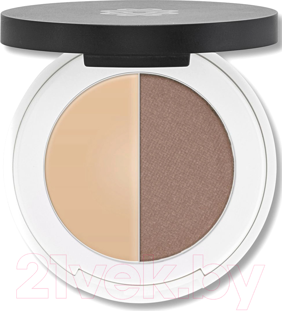 Купить Тени для бровей Lily Lolo, Eyebrow Duo Light (2г), Великобритания, брюнет/шатен (коричневый)