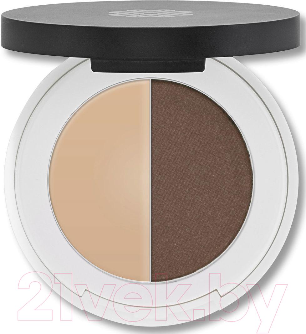Купить Тени для бровей Lily Lolo, Eyebrow Duo Medium (2г), Великобритания, брюнет/шатен (коричневый)